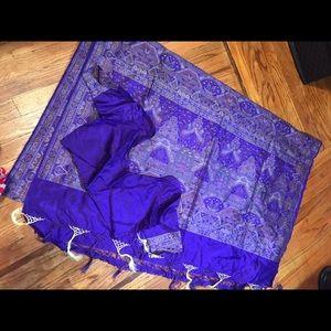 Dresses & Skirts - Beautiful purple Saree with blouse